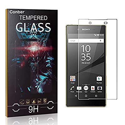 Conber Screen Protector for Sony Xperia Z5, (2 Pack) 9H Tempered Glass Film Screen Protector for Sony Xperia Z5 [Scratch-Resistant][Shatterproof]: Baby