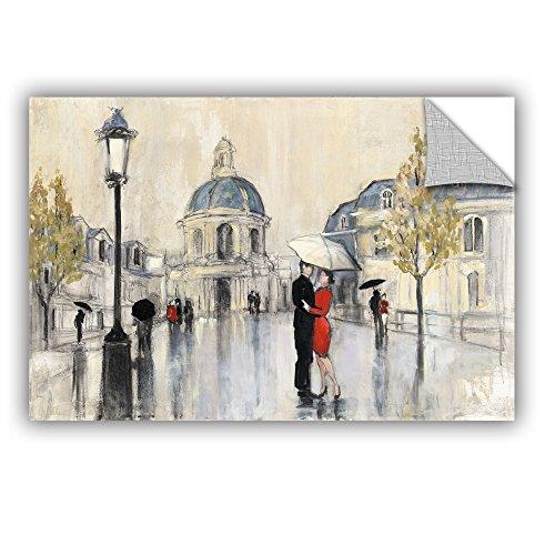 """ArtWall 2pur005a1624p Julia Purinton's Spring Rain Paris Removable Wall Art, 16"""" x 24"""""""
