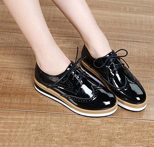 Mme Spring chaussures d'ascenseur avec des semelles épaisses chaussures plates chaussures casual simples femmes , US6.5-7 / EU37 / UK4.5-5 / CN37