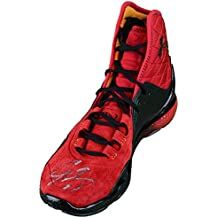 Cam Newton Carolina Panthers Autographed Red & Black Under Armour Sneaker - JSA Certified - Autographed NFL Cleats