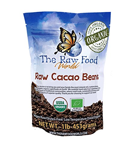 - Raw Organic Heirloom Cacao Beans 16oz, The Raw Food World