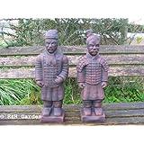 Ru0026H Garden PAIR OF ORIENTAL WARRIORS GARDEN ORNAMENTS   FREE Pu0026P