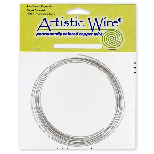 - Beadalon Artistic Wire 14-Gauge Tinned Copper Coil Wire, 25-Feet