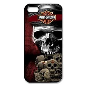Harley Davidson Pirates of the Caribbean Skull iPhone 5 5S Plastic Protective Case Cover by lolosakes