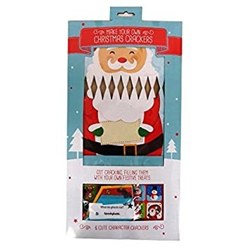 Amazon make your own christmas crackers pack of 6 with make your own christmas crackers pack of 6 with tags stickers sequins solutioingenieria Choice Image