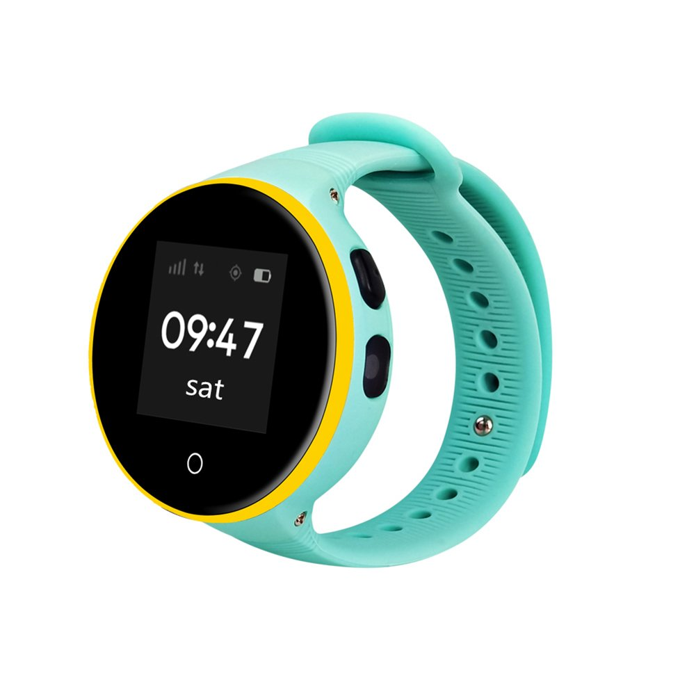 Etbotu GPS Tracker Smart Watch, 1.22'' IPS Square Screen, Children Wristwatch for IOS & Android