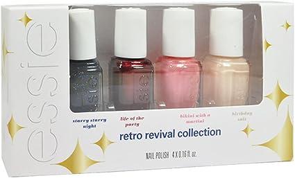Essie Retro Revival Mini Kit, 5 ml, pack de 4: Amazon.es: Belleza