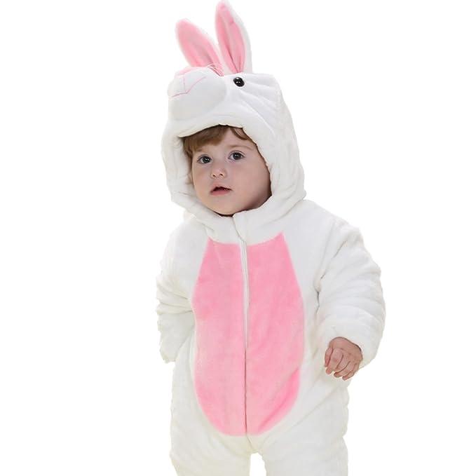Yimidear Franela Invierno Pijama Disfraz Cosplay Disfraz Animal Barboteuse de Mignon bebé Unisex Outwear Sleepwear Nightwear