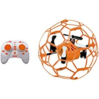 M70 RC Quadcopter Basketball Football Style Aerobatic Plays Quadrotor Entertainment 360°Eversion 4CH 6 Axis 2.4 G Mini Quad (Orange)