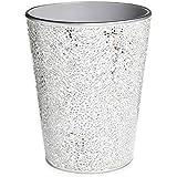 Silver Mosaic Waste Bin