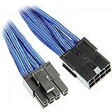 BitFenix BFA-MSC-62PEG45BK-RP - Cable (PCI-E (6+2 pin), PCI-E(6+2 pin), Macho/hembra, Derecho, Derecho, Negro, Azul)