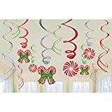 Candy Cane 12 Piece Hanging Swirls