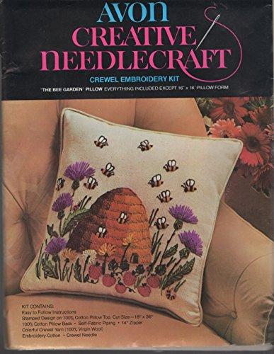Avon Creative Needlecraft Crewel Embroidery Pillow Kit - The Bee ()
