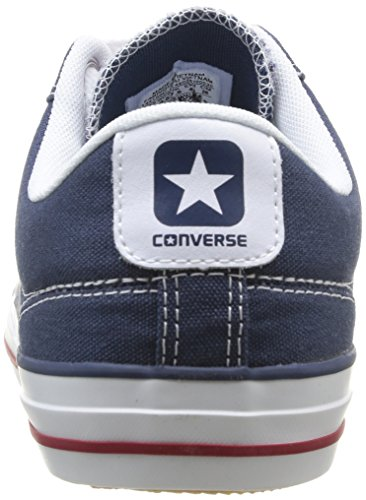 unisex Core deportivas Marine Azul Zapatillas Star Canvas Converse Bleu Player Ox Adulte 10 Blanc qw8xt70