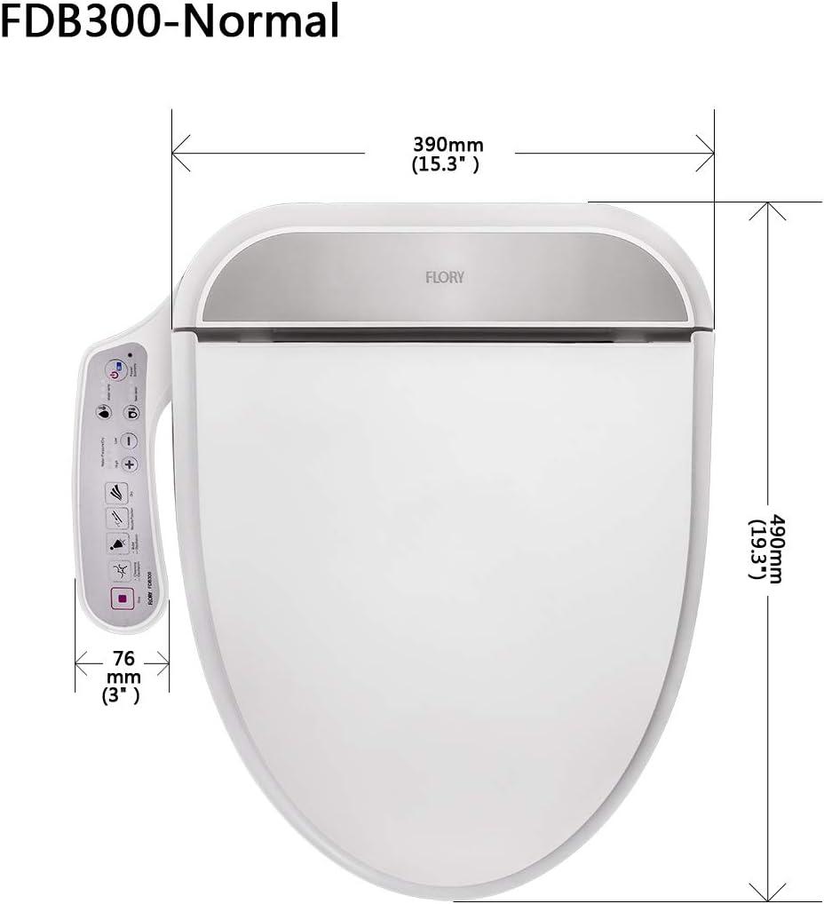 Calentador de Agua del asiento FLORY EU Bid/é el/éctrico digital inteligente WC Asiento UKSTANDARD FDB300 Energysaving Tecnolog/ía c/álido y seco, EcoFriendly