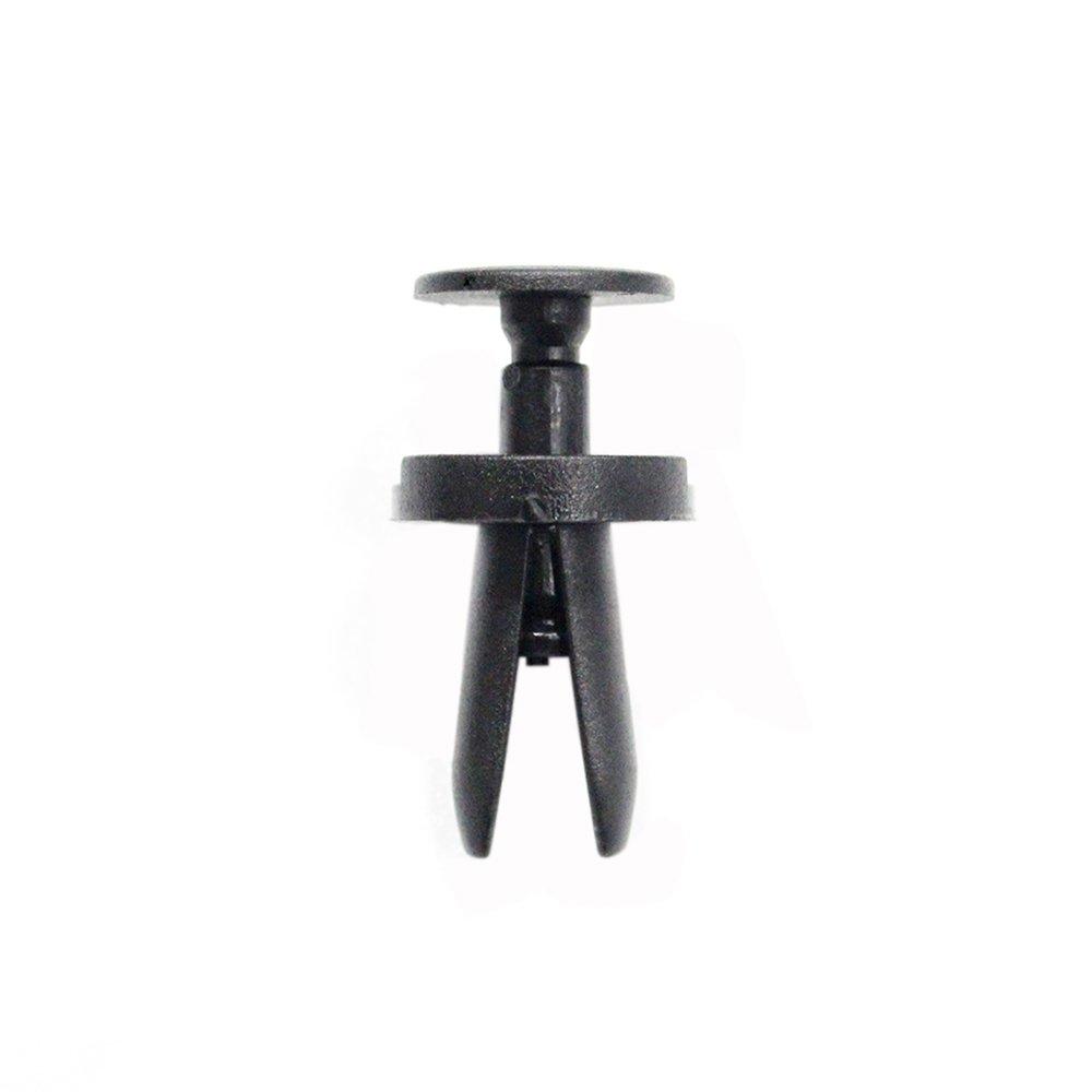 Muchkey Clip de bordure de fixation de panneau dagrafe de pare-chocs de voiture 8mm 50Pcs