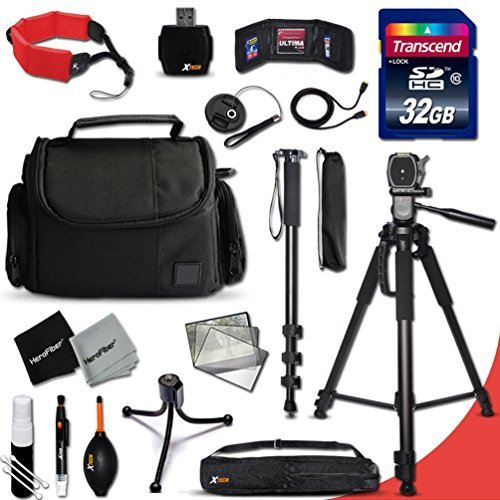 Xtech DSLR Camera Complete ACCESSORIES Kit for Canon EOS 70D 60D 5D 5DS 7D Mark II 5D Mark II EOS Rebel T6i T6S T5i T5 T4i T3i T3 T2i SL1 EOS 760D 750D 700D 650D 600D 550D 8000D 1200D 1100D 100D EOS M3 M2 T1i XTi XT SL1 XSi 7D Mark II DSLR Cameras Includes: 32GB High Speed SD Memory Card + Pro Grade 72′ inch Tripod + Full size 72′ Inch Monopod + Well Padded Camera Case + Floating Foam Hand-Strap + MORE
