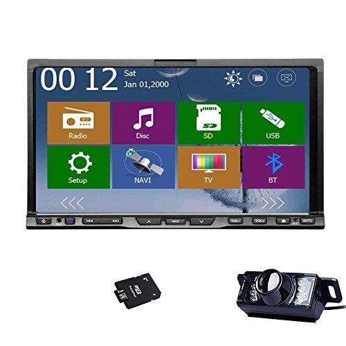 Camera+New Win 8 UI Design 7 inch 2 Din Car DVD Player Car Stereo Radio Audio GPS Navigation GPS Map Car Logo Chosen