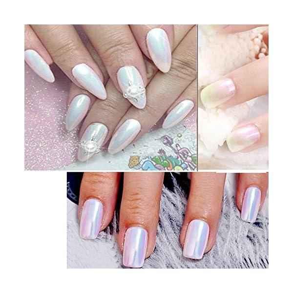 PrettyDiva Chrome unicorn nail powder 8