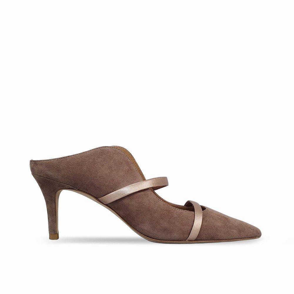 DHG Punta Bauleu con tacco alto, a punta a alto, punta, con sandali e ciabattine,Grigio,37 - 3e22b1