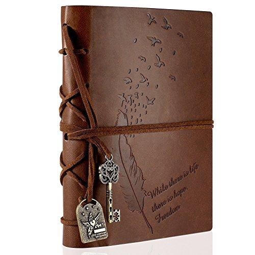 Yosemy Travel Journal Notebook, Retro Vintage Diary Writing Notepad Guest Book for Gift