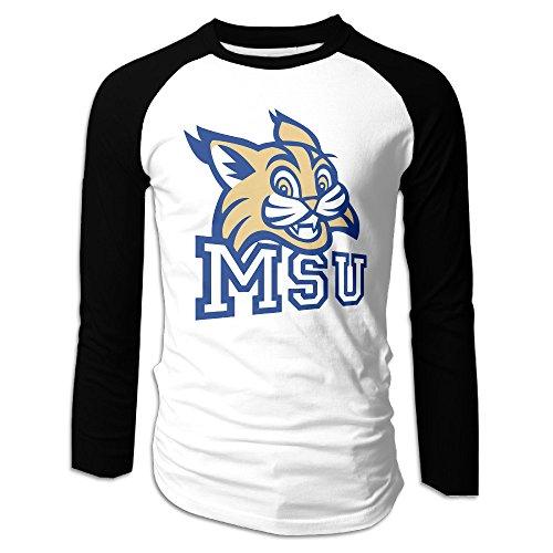 Ahey Men's Essential Long Sleeve Raglan Montana State University T Shirts XL