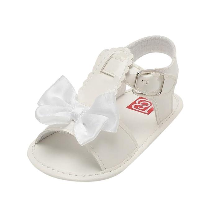 Zapatos de Verano para Bebé 💋💝 Yesmile Sandalias Huecas de Proa Bowknot Zapatillas de Cuna