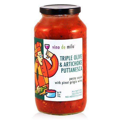 Vino de Milo No Sugar Added Pasta Sauce (25 oz) - Triple Olive & Artichoke Puttanesca (25 ()