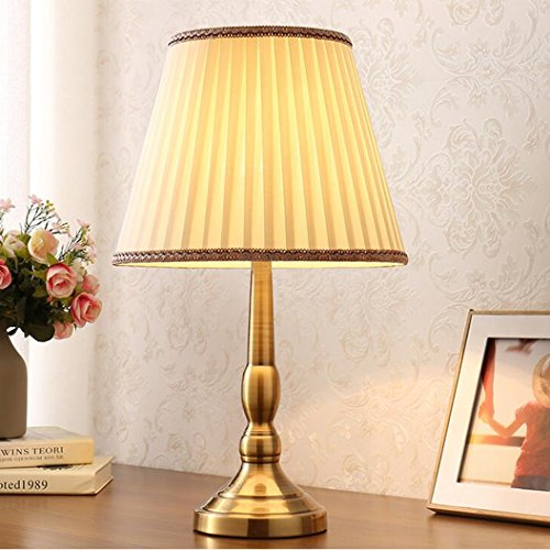 HZB Simple Modern Bedroom Living Room Lamp Bedside Study American Personality Jane Cloth ( Color : B ) by 505
