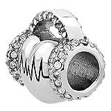 SexyMandala Heartbeat Charm Heart Electrocardiogram