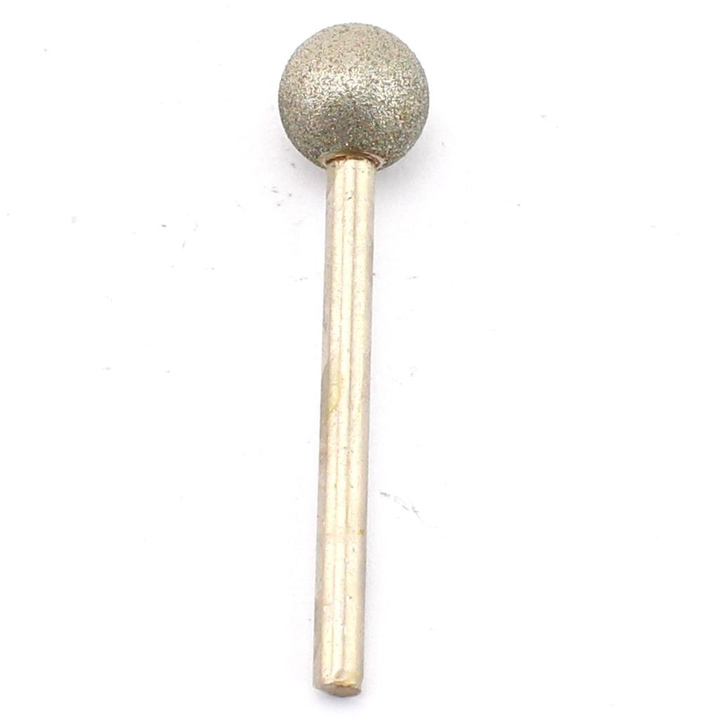 JOINER 25 mm Dia Spherical Head Diamond Grinding Bit Coated Mounted Points Round Ball Burs Grit 80 Shank 6mm Coarse Tools for Stone