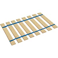 The Furniture Cove Made in The U.S.A.! Full Size Custom Width Bed Slats with Blue Straps-Help Support Your Box Spring and Mattress