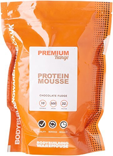 Protein Chocolate Mousse - Bodybuilding Warehouse Premium Protein Muscle Mousse Powder Chocolate Fudge 500 g by Bodybuilding Warehouse