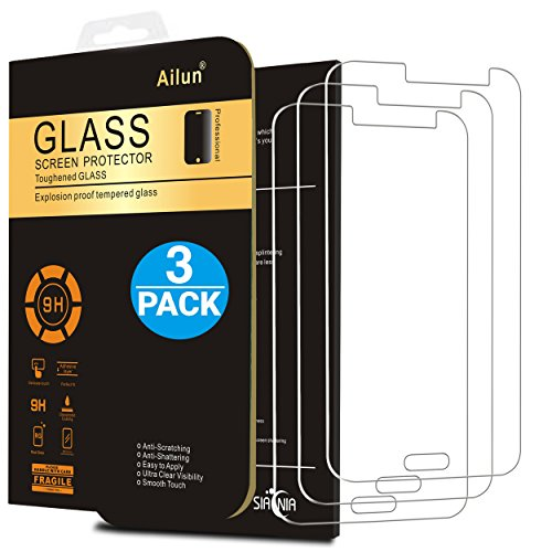 Ailun Screen Protector Compatible with Galaxy J3, [3Pack][2016-Release],Tempered Glass,2.5D Edge,Anti-Scratch,Case Friendly-Siania Retail Package
