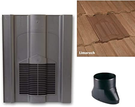 Grey Roof Tile Vent Limarech Vents With Flexi Pipe Adaptor For Sandtoft Lindum Russell Cheviot Redland Renown Marley Ludlow Major Tiles Amazon Co Uk Diy Tools