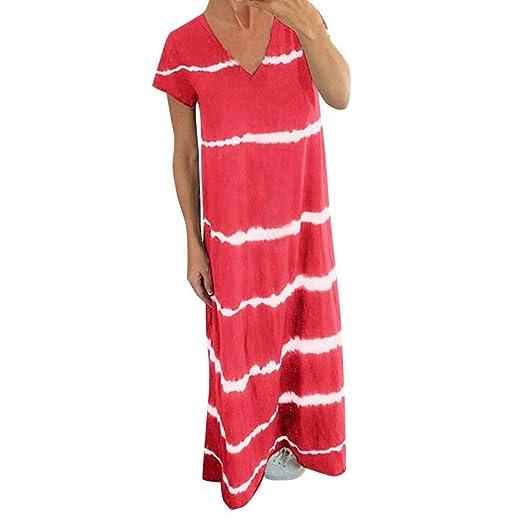 Go First Vestido Maxi De Las Mujeres Vestidos Largos A Rayas ...