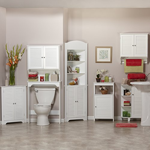 RiverRidge Ellsworth Collection Floor Cabinet with Side Shelves, White by RiverRidge Home Products (Image #2)