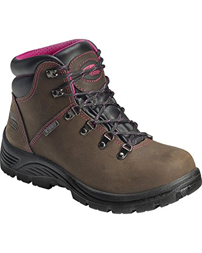 Avenger Safety Footwear Women's Avenger 7675 Soft Toe Waterproof SR EH Hiker Industrial and Construction Shoe, Brown, 7.5 2E US