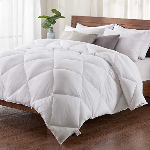 Basic Beyond Down Alternative Comforter - All-Season White Quilted Down Duvet Insert Hypoallergenic Plush Microfiber Fill, Corner Duvet Tabs, Queen Size