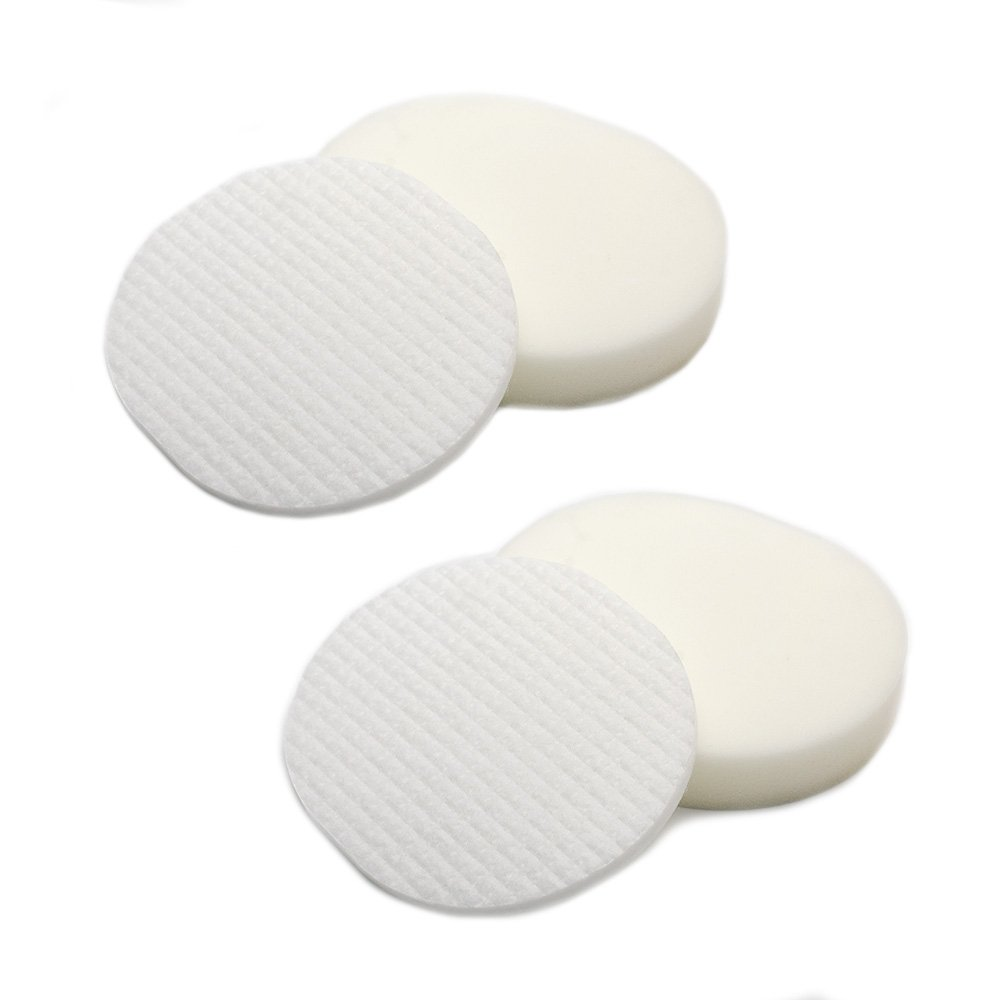 B06XGZ327N 2 Pack Foam & Felt Filter Kit Replacements for Shark XFF80 Navigator Professional NV70, NV80, NVC80C, UV420, NV90 Vacuum Cleaners 51pjdWo7nGL