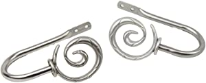 Rod Desyne Modern Spiral Curtain Holdback Finish: Satin Nickel
