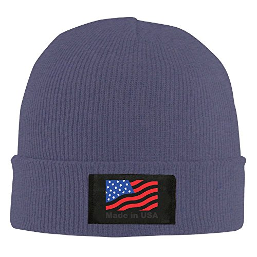 EJudge Made In USA Flag Unisex Winter Warm Knit Hats Skull Cap Daily Beanie