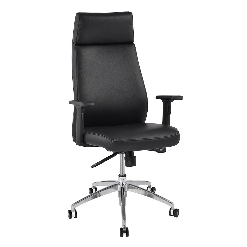 Office Chair Mechanism - Langria comfortable high back leather executive chair for home and office use 2d adjustable armrests