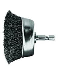 Century Drill and Tool 76221 Coarse Drill Cup Wire Brush, 2-3...
