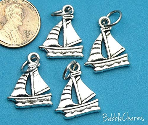 Wholesale Charm Charms Sailboat Alloy Charm Charm 12 Charms 12 pc Boat Charm Sailboat Charm Boat