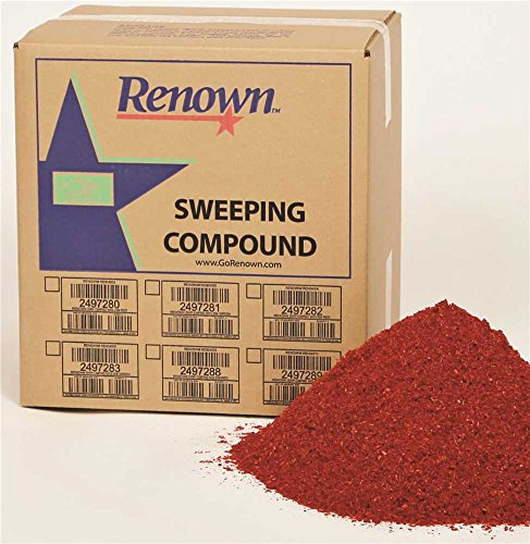 Renown REN04010 Sweeping Compound Oil Base, No Grit, 25 lb. Box, - Grit Base Sweeping Compound Oil