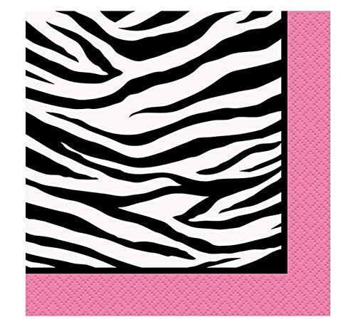 Zebra Print Beverage Napkins, 16ct ()