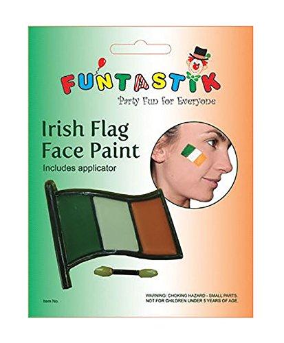 (Rimi Hanger Irish Flag Face Paint Applicator Set ST Patricks Day Fancy Make Up Accessories One Size)