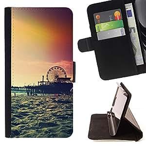 Momo Phone Case / Flip Funda de Cuero Case Cover - Île de New York Summer - HTC DESIRE 816