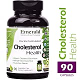 Emerald Laboratories - Cholesterol Health - with Flush-Free Niacin, CoQ10, Red Yeast Rice & Garlic - 90 Vegetable Capsules